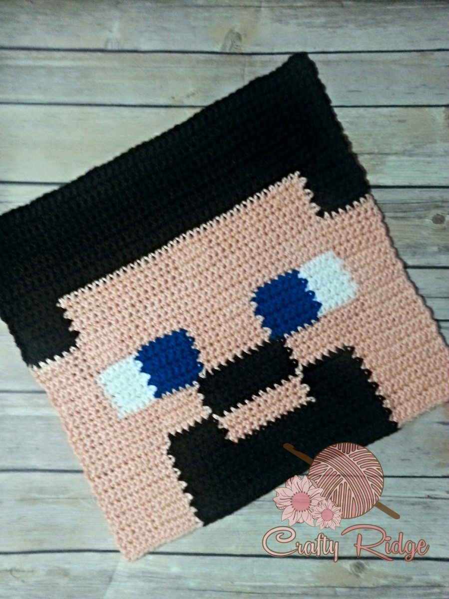 Free Crochet Pattern For Minecraft Afghan : My Minecraft Obsession?It s Steve! Crafty Ridge Designs